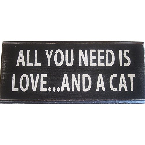 All You Need Is Love And a Cat Vintage Wood Sign for Wall Decor ...