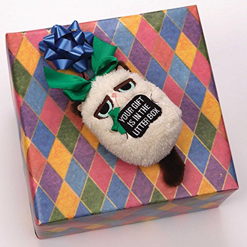 "Grumpy Cat Mini Holiday Ornament ""Your Gift is in the ..."